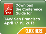 TAW San Francisco 2013,  Conference Preview Guide